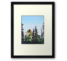 Red Mountain Landscape Framed Print