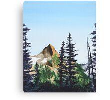 Red Mountain Landscape Canvas Print
