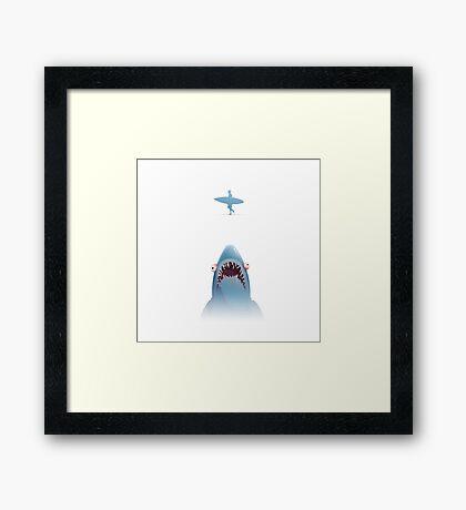 Sharks like Surfboards! Framed Print