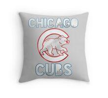 Chicago Cubs Skyline Throw Pillow