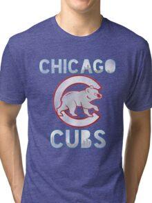 Chicago Cubs Skyline Tri-blend T-Shirt