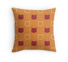 Pumpkin Spice Kitty Throw Pillow