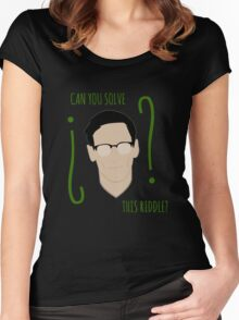 Riddle (E. Nygma) Women's Fitted Scoop T-Shirt