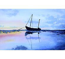 Single Boat Seascape Photographic Print
