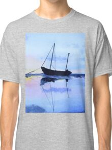 Single Boat Seascape Classic T-Shirt
