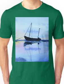 Single Boat Seascape Unisex T-Shirt