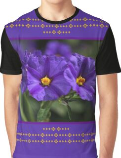 Potato Vine Flower Graphic T-Shirt