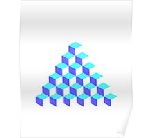 Q*Bert Pyramid Poster