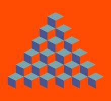 Q*Bert Pyramid Kids Tee