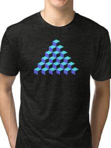 Q*Bert Pyramid Tri-blend T-Shirt