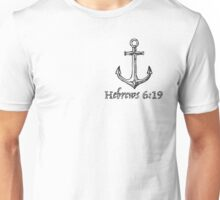 Anchor for the Soul - White and Black Unisex T-Shirt