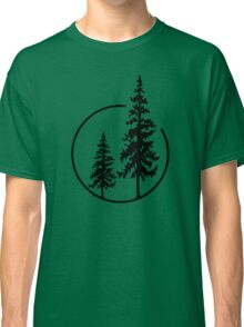 Two Simple Trees in a Circle Classic T-Shirt