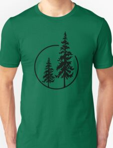 Two Simple Trees in a Circle T-Shirt