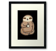 Coffee Sloth Framed Print
