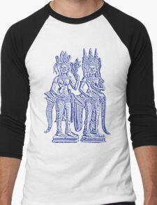 Apsara - Blue Men's Baseball ¾ T-Shirt
