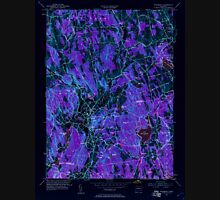 USGS TOPO Map Connecticut CT Woodbury 461084 1955 24000 Inverted Unisex T-Shirt