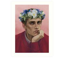 Flower crown Adam Art Print