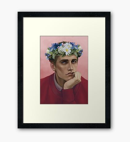 Flower crown Adam Framed Print