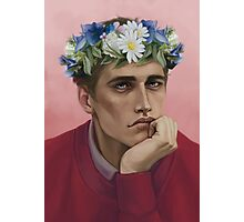 Flower crown Adam Photographic Print