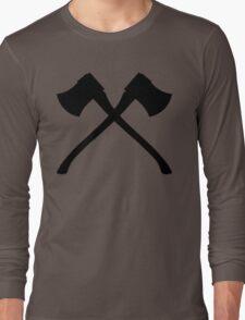 Axe Crossing Simple Long Sleeve T-Shirt