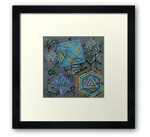 LSD Molecule Framed Print
