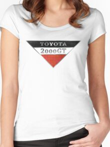 Toyota 2000GT Graphic Women's Fitted Scoop T-Shirt