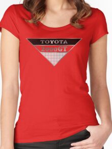 Toyota 2000GT Grey Graphic Women's Fitted Scoop T-Shirt