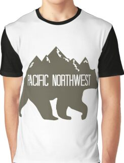 PNW Mountain Bear Graphic T-Shirt