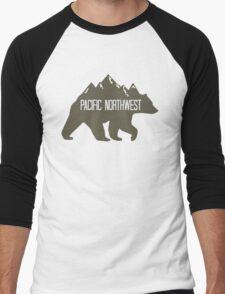 PNW Mountain Bear Men's Baseball ¾ T-Shirt