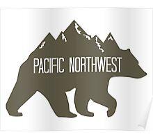 PNW Mountain Bear Poster