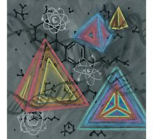 THC - Molecule Photographic Print
