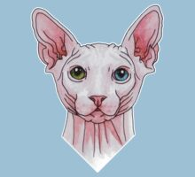Sphynx cat portrait Kids Clothes
