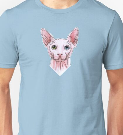 Sphynx cat portrait Unisex T-Shirt