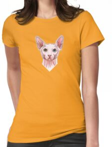 Sphynx cat portrait Womens Fitted T-Shirt