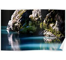 """""""Blue Pool"""" New Zealand Poster"""