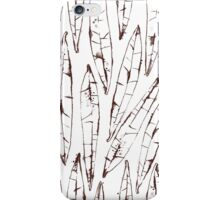 Outlines Watercolor Willow Leaves iPhone Case/Skin