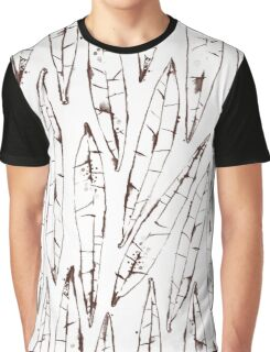 Outlines Watercolor Willow Leaves Graphic T-Shirt