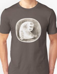 Snowy Owl Sitting In a Hollow T-Shirt