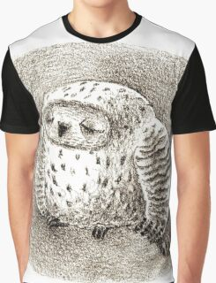 Great Grey Owl Sleeping In a Hollow Graphic T-Shirt