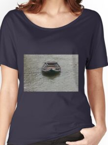 boat on the river Women's Relaxed Fit T-Shirt
