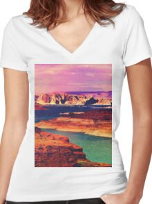 In The Morning. Women's Fitted V-Neck T-Shirt