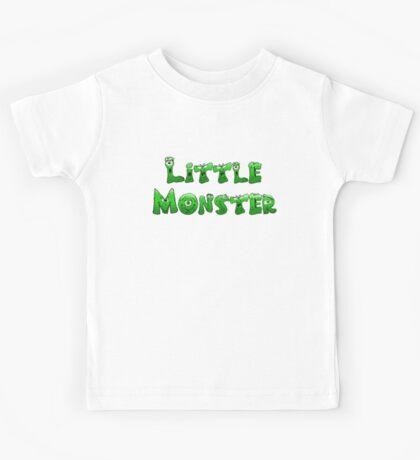 Little Monster (light bg) Kids Tee
