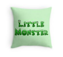 Little Monster (light bg) Throw Pillow