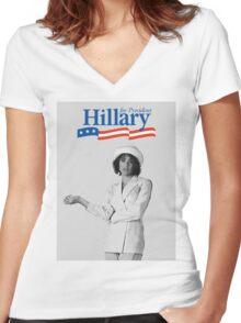 hillary banks Women's Fitted V-Neck T-Shirt
