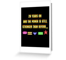 Zeo 20th Anniversary 1 Greeting Card