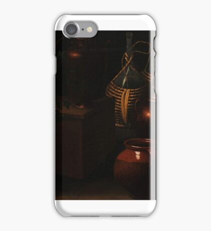 Rodolfo Simone, Da Lodi (17th Century), Still lifes, with jugs bottles and cooking equipment iPhone Case/Skin