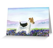 Wire Fox Terrier'Spring Flowers' Greeting Card