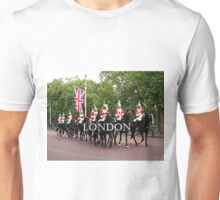 Royal Household Cavalry, London, England 2 (caption) Unisex T-Shirt