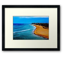 Port Noarlunga beach Framed Print