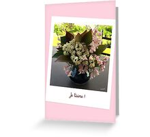 "Polaroid ""Je t'aime"" Greeting Card"